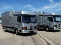 MERCEDES TEMPERATURE CONTROLLED TRUCKS FOR SALE